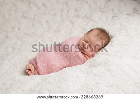 Free Photos Newborn Baby Girl Wrapped In Pink Blanket Avopix Com