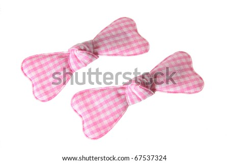Baby Hair Clips on White Background