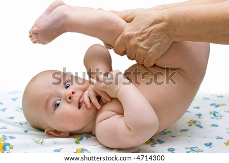 baby hands massage mother massaging