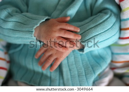 baby hands with parents Photo stock ©