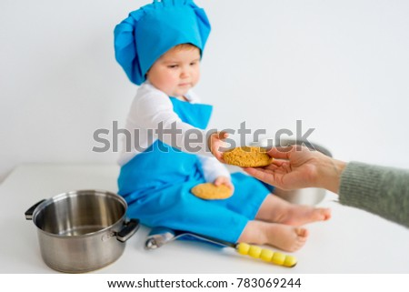 Stock Photo Baby in chef hat