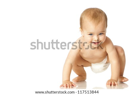 Baby in diapers