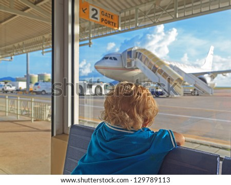 baby in the airport