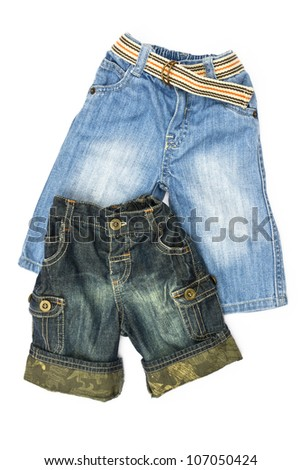 baby jeans isolated on white background