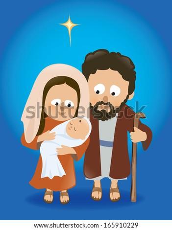 Baby Jesus with Mary and Joseph - Jpeg