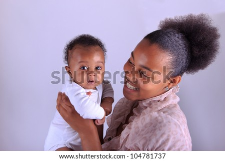 baby newborn african with mother black