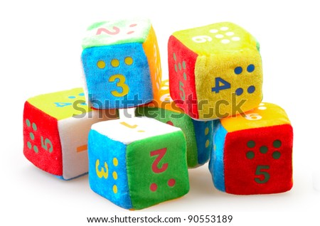 Baby Number Blocks isolated on a white background