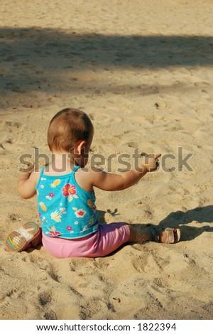 baby on the summer beach