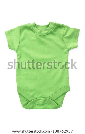 Baby onesie isolated on white background. clothes close up