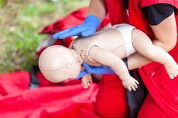Baby or child first aid training for choking