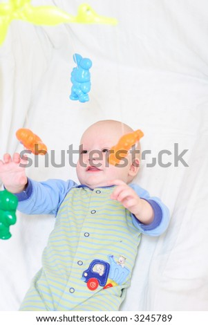 Baby playing with toys #12