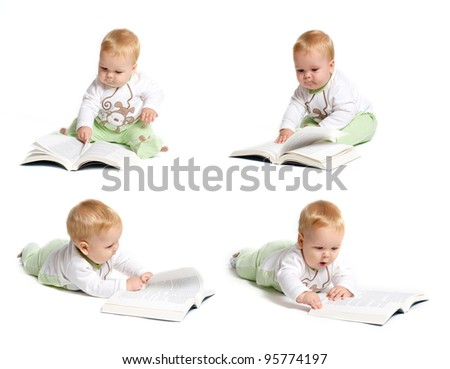 Baby reading montage