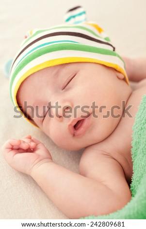 Baby\'s sweet dreams close up