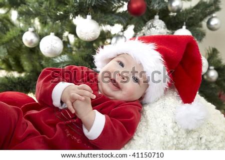 baby santa claus Stock foto ©