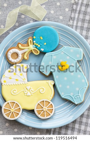 Baby shower cookies