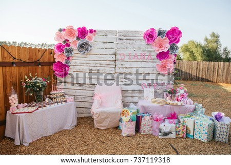 Baby Shower For Girl Outside Celebration Candy Bar For Events