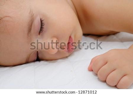 Baby Sleeping and having a sweet dreams .