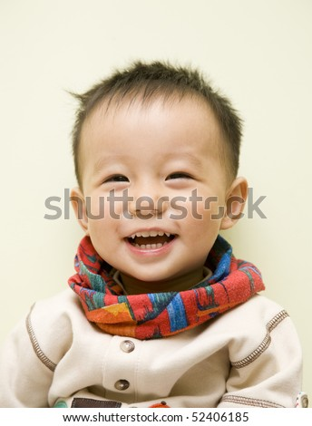 baby smile - stock photo