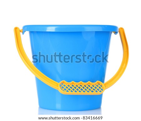baby toy bucket isolated on white
