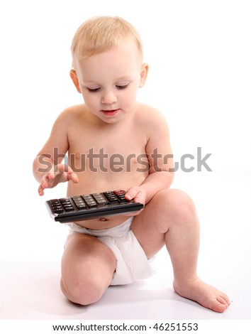 Baby used calculator