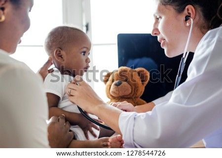 Baby visiting the doctor for a checkup