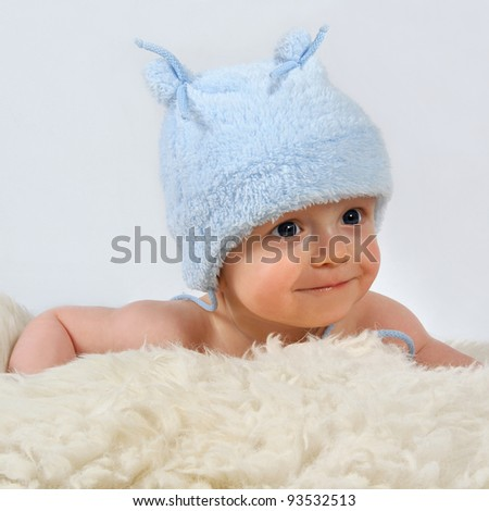 baby with cap