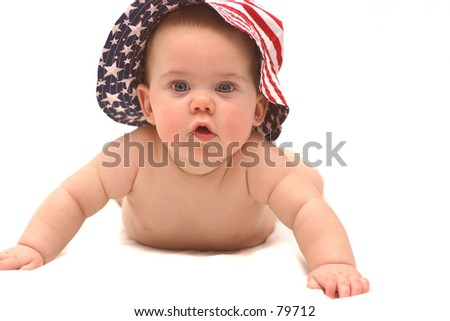 Baby with Patriotic hat