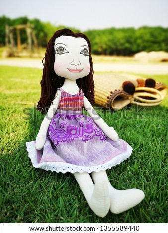 Babydoll handmade with thai cloth. Love toy for kids. Asian doll.