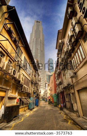 Back Alley in Singapore - stock photo