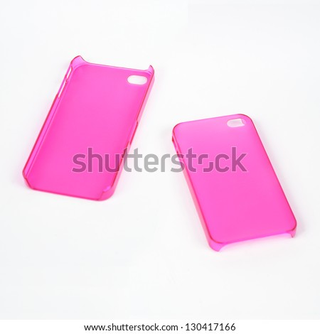 Back and Front of Pink Mobile Phone Cover