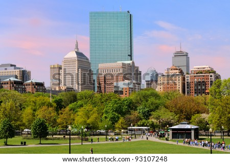 Back Bay from Boston Common
