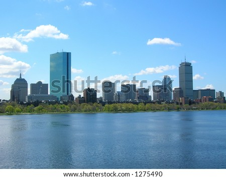 Back Bay Skyline, Boston. - stock photo