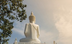 back Buddha statue in Udonthani Thailand