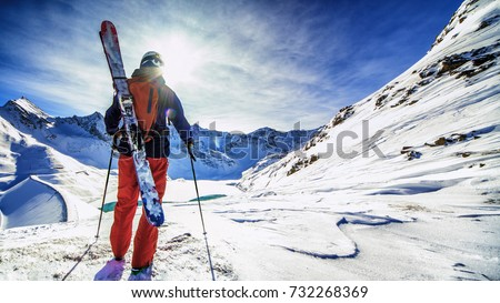 Back country skiing #732268369
