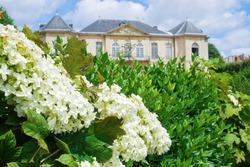 Back garden of Musee de Rodin in Paris France