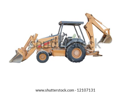 Back Hoe isolated on white