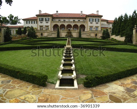 Back lawn of Philbrook Museum in Tulsa Oklahoma