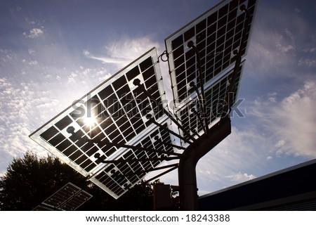 Back lighted Solar panels