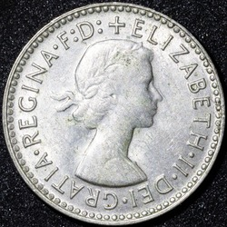 Back of a 1940 Australian three pence Silver coin