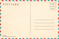 Back of airmail blank postcard.