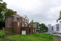 Back of Governor's house in Governors Island. Old and abandoned building