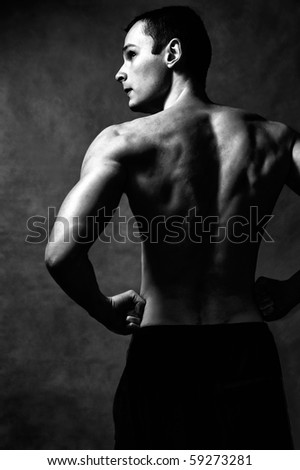 Back of strong man