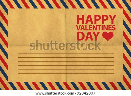 Back Of Vintage Postcards, St Valentine'S Postcard Stock Photo ...