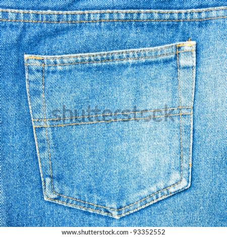 Back pocket denim. - stock photo
