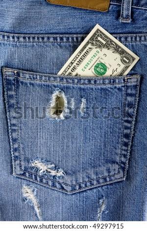 Jeans Back Pocket Texture Back Pocket Jeans