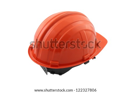 Back safety hat on white background