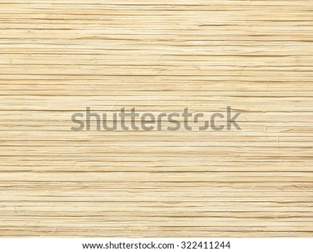 Back side of bamboo brown straw mat as abstract texture background composition, top view above.