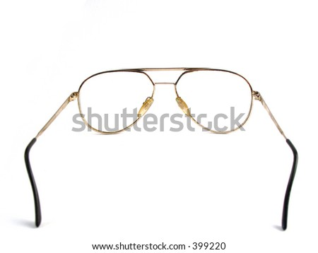 Back-side of glasses - stock photo