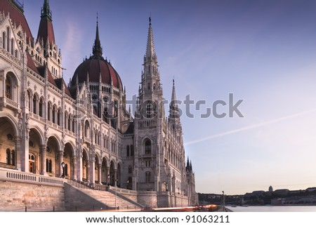 Back side of the famous Hungarian parliament