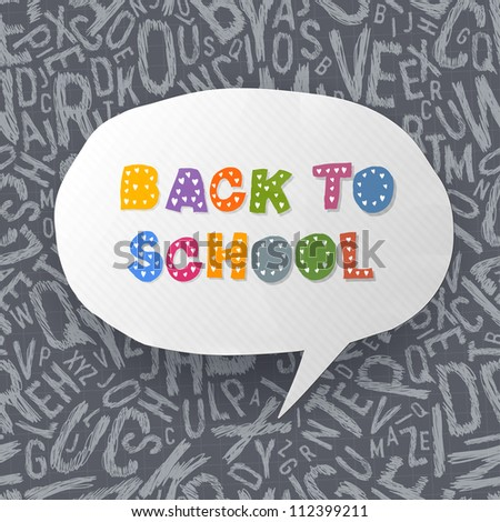 Back to school abstract background. Raster version, vector file available in portfolio.